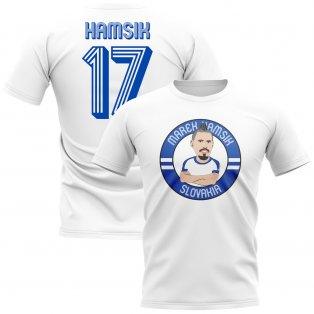 Marek Hamsik Slovakia Illustration T-Shirt (White)