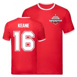 Roy Keane Manchester United Ringer Tee (Red)