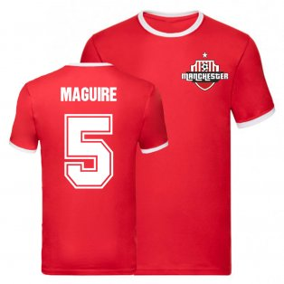 Harry Maguire Manchester United Ringer Tee (Red)