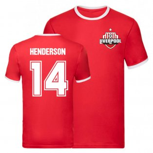 Jordan Henderson Liverpool Ringer Tee (Red)