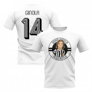 David Ginola Newcastle Illustration T-Shirt (White)