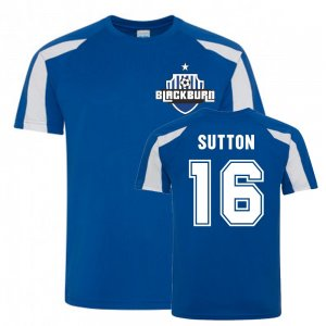 Chris Sutton Blackburn Rovers Sports Training Jersey (Blue)