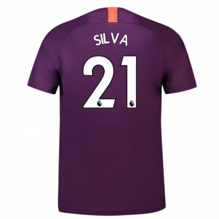 2018-2019 Man City Third Nike Football Shirt (Silva 21) - Kids