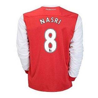2010-11 Arsenal Nike Long Sleeve Home Shirt (Nasri 8)