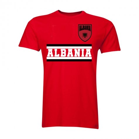 Albania Core Football Country T-Shirt (Red)