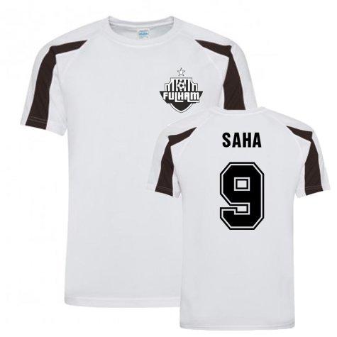 Louis Saha Fulham Sports Training Jersey (White)