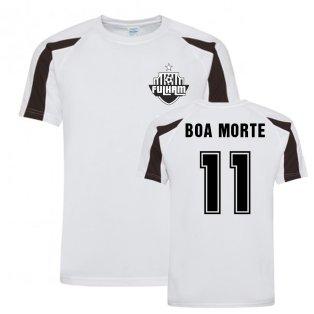 Luis Boa Morte Fulham Sports Training Jersey (White)