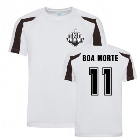 Luis Boa Morte Fulham Sports Training Jersey (White)