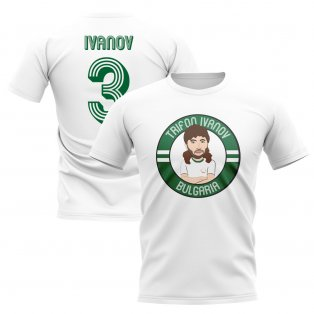 Trifon Ivanov Bulgaria Illustration T-Shirt (White)