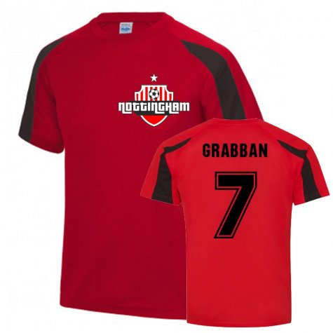 Lewis Grabban Nottingham Forest Sports Training Jersey (Red)