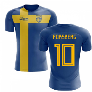 2020-2021 Sweden Flag Concept Football Shirt (Forsberg 10) - Kids