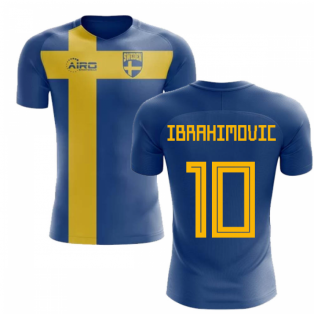 54b7d8e64 2018-2019 Sweden Flag Concept Football Shirt (Ibrahimovic 10)