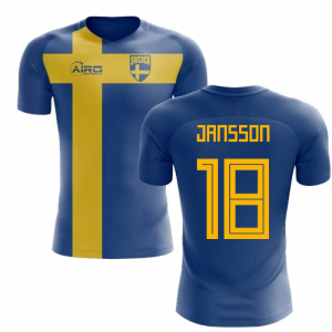 2020-2021 Sweden Flag Concept Football Shirt (Jansson 18) - Kids