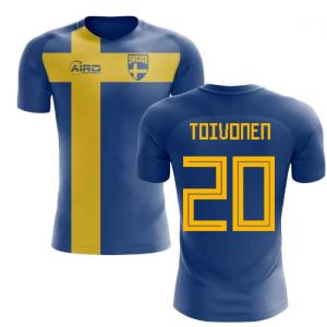 2020-2021 Sweden Flag Concept Football Shirt (Toivonen 20) - Kids