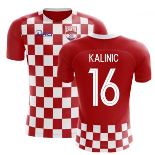 2018-2019 Croatia Flag Concept Football Shirt (Kalinic 16) - Kids