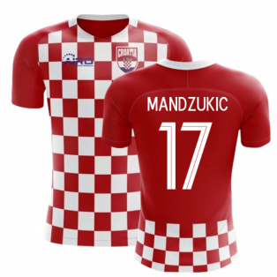 2020-2021 Croatia Flag Concept Football Shirt (Mandzukic 17) - Kids