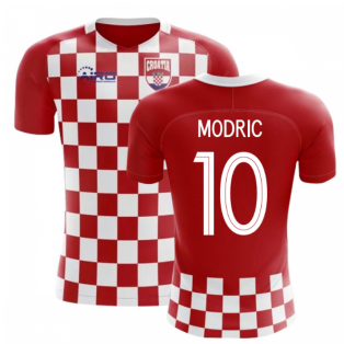 a7977e229 2018-2019 Croatia Flag Concept Football Shirt (Modric 10)
