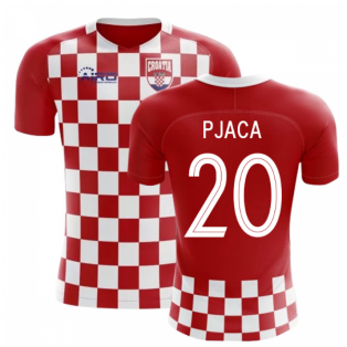 2018-2019 Croatia Flag Concept Football Shirt (Pjaca 20) - Kids