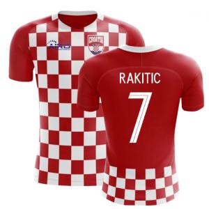 2018-2019 Croatia Flag Concept Football Shirt (Rakitic 7) - Kids