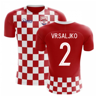 2020-2021 Croatia Flag Concept Football Shirt (Vrsaljko 2) - Kids