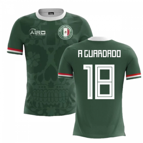 2018-2019 Mexico Home Concept Football Shirt (A Guardado 18) - Kids