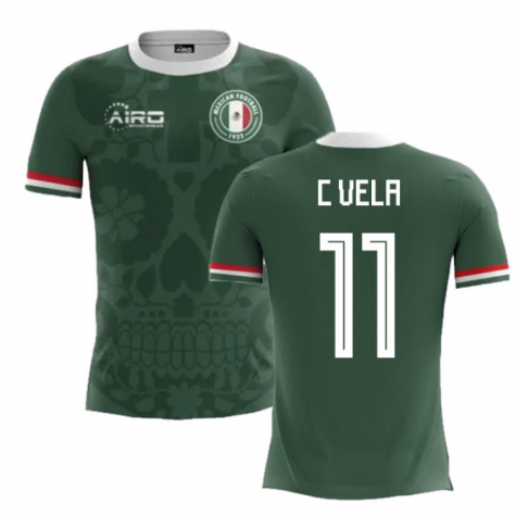 2020-2021 Mexico Home Concept Football Shirt (C Vela 11) - Kids