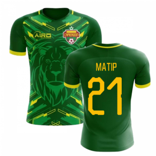 2020-2021 Cameroon Home Concept Football Shirt (Matip 21) - Kids