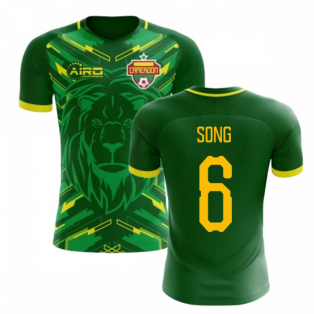 a67b0b482f9 Mens. 2018-2019 Cameroon Home Concept Football Shirt (Song 6)