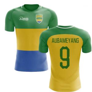 2018-2019 Gabon Home Concept Football Shirt (Aubameyang 9) - Kids