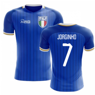 2018-2019 Italy Home Concept Football Shirt (Jorginho 7) - Kids