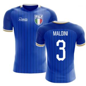 2018-2019 Italy Home Concept Football Shirt (Maldini 3) - Kids
