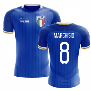 2020-2021 Italy Home Concept Football Shirt (Marchisio 8) - Kids