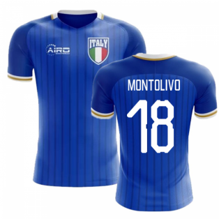 2018-2019 Italy Home Concept Football Shirt (Montolivo 18) - Kids