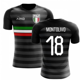 2020-2021 Italy Third Concept Football Shirt (Montolivo 18) - Kids