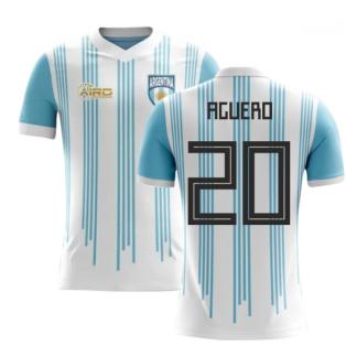 2018-2019 Argentina Home Concept Football Shirt (Aguero 20) - Kids
