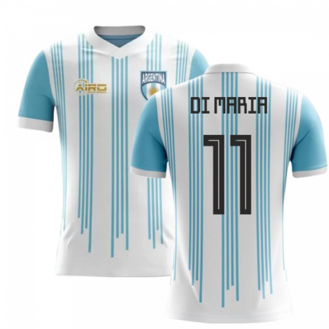 2018-2019 Argentina Home Concept Football Shirt (Di Maria 11) - Kids