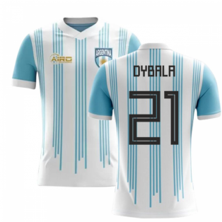 2020-2021 Argentina Home Concept Football Shirt (Dybala 21) - Kids
