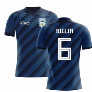 2018-2019 Argentina Away Concept Football Shirt (Biglia 6) - Kids