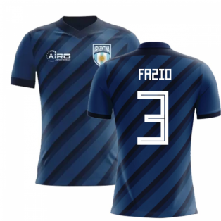 2018-2019 Argentina Away Concept Football Shirt (Fazio 3) - Kids