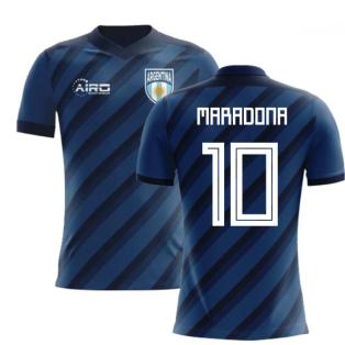 2018-2019 Argentina Away Concept Football Shirt (Maradona 10) - Kids