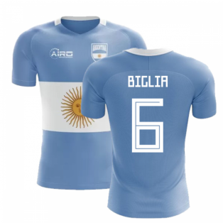 2018-2019 Argentina Flag Concept Football Shirt (Biglia 6) - Kids