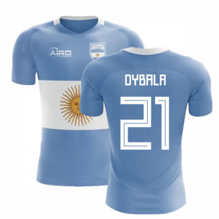 2020-2021 Argentina Flag Concept Football Shirt (Dybala 21) - Kids