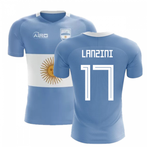 2020-2021 Argentina Flag Concept Football Shirt (Lanzini 17) - Kids