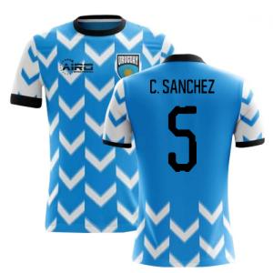 2020-2021 Uruguay Home Concept Football Shirt (C. Sanchez 5) - Kids