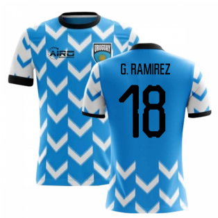 2020-2021 Uruguay Home Concept Football Shirt (G. Ramirez 18) - Kids