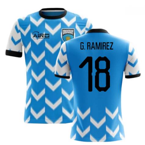 2020-2021 Uruguay Home Concept Football Shirt (G. Ramirez 18) - Kids