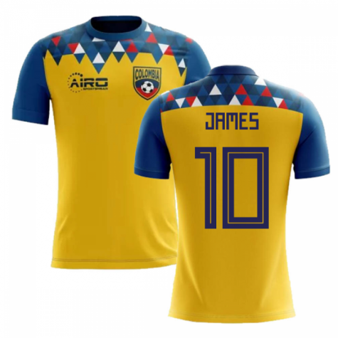 2018-2019 Colombia Concept Football Shirt (James 10) - Kids