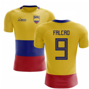021171f17 2018-2019 Colombia Flag Concept Football Shirt (Falcao 9)