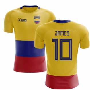 3f4ee517768 2018-2019 Colombia Flag Concept Football Shirt (James 10) - Kids