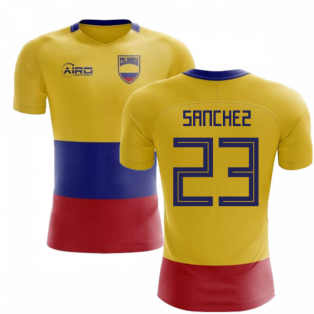 2018-2019 Colombia Flag Concept Football Shirt (Sanchez 23) - Kids